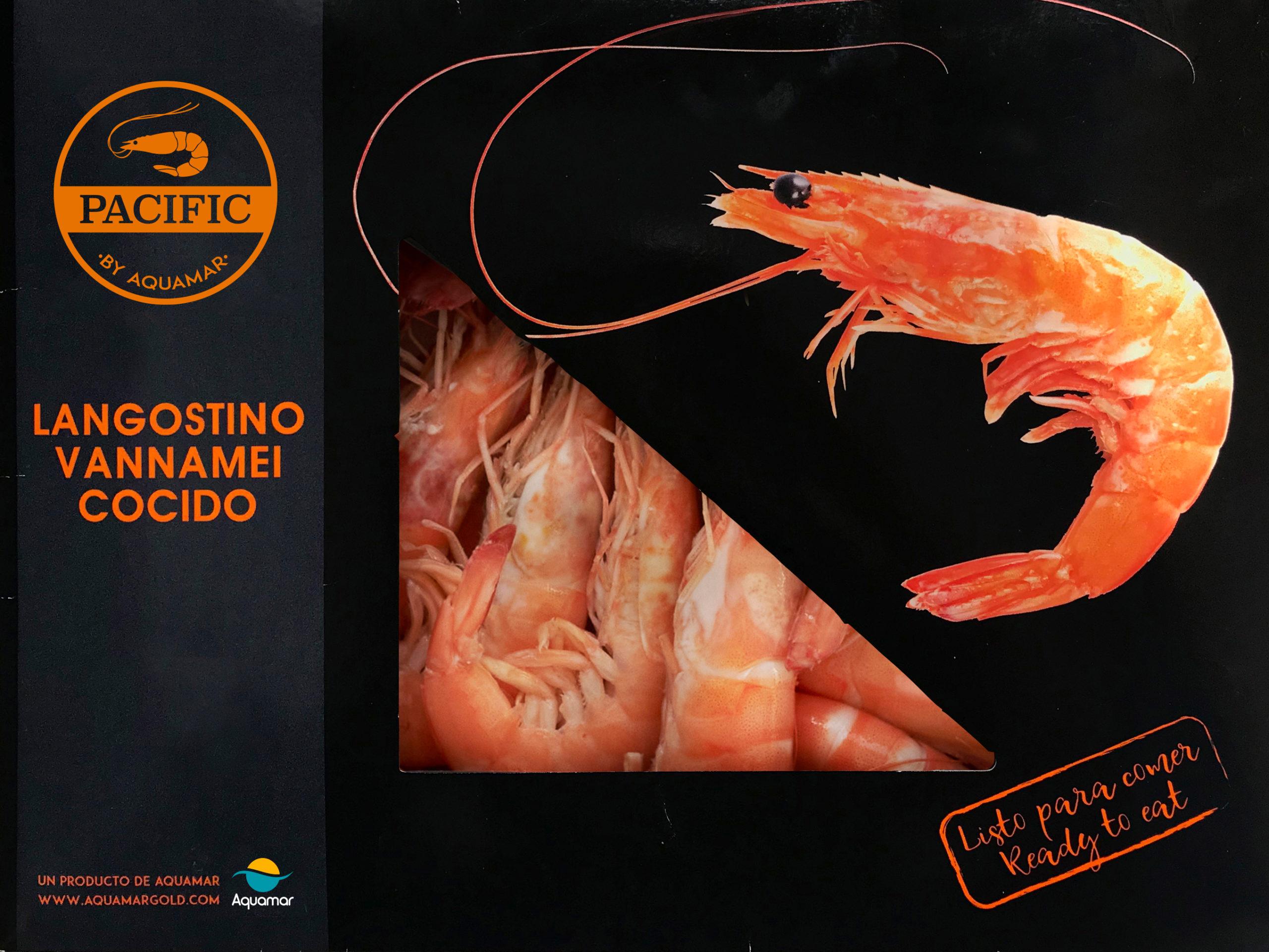 Langostino vannamei Cocido PREMIUM 0% glaseo PACIFIC by Aquamar 2kg